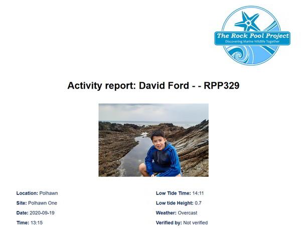 crustacean survey report header