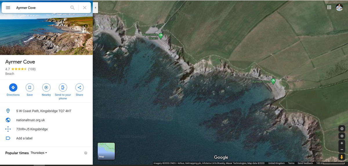 ayrmer cove location